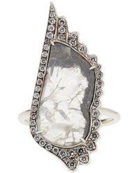 Susan Foster - Diamond Slice & White Gold Ring - Lyst