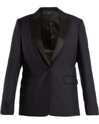 JOSEPH - Hampsted Satin-lapel Wool-blend Tuxedo Jacket - Lyst
