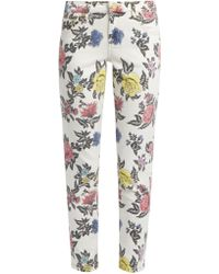 House of Holland | Floral-print High-rise Skinny Jeans | Lyst