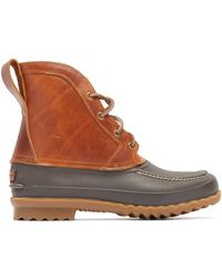 Quoddy Bi Color Rubber And Leather Field Boots - Brown