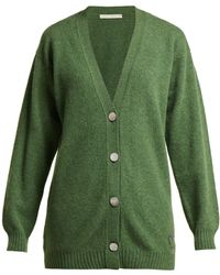 Queene And Belle - Mclaren Crown Embroidered Wool Cardigan - Lyst