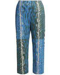 Pleats Please Issey Miyake - Flash Animal-print Pleated Trousers - Lyst