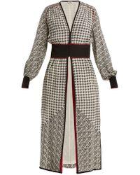 Talitha - Scarf-print Silk-crepe Robe - Lyst