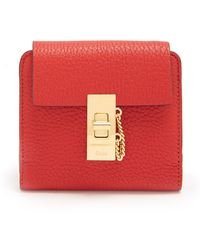 Chloé | Drew Square Leather Wallet | Lyst