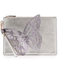 Sophia Webster - Flossy Butterfly Leather Clutch - Lyst
