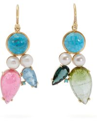 Irene Neuwirth - 18kt Gold & Multi Stone Mismatched Earrings - Lyst