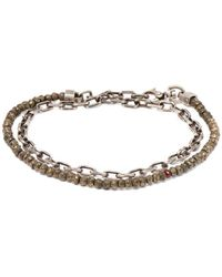 Title Of Work - Pyrite And Ruby Wraparound Bracelet - Lyst