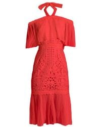 Temperley London - Berry Lace Off-the-shoulder Dress - Lyst