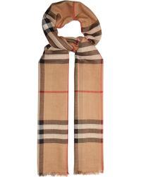 Lyst - Écharpe en fil coupé de coton, laine et modal avec graffiti ... 2f79daed65b