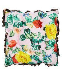 Preen By Thornton Bregazzi - Floral Silk-satin Cushion - Lyst