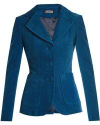 Rockins | Single-breasted Cotton-blend Corduroy Jacket | Lyst