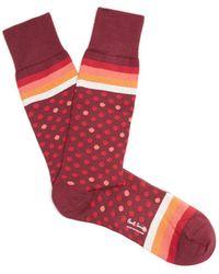 Paul Smith - Polka-dot Cotton-blend Socks - Lyst
