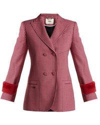 Fendi - Shearling-trimmed Wool Jacket - Lyst