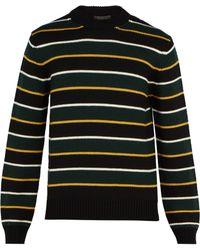 Prada - Striped Virgin-wool Jumper - Lyst
