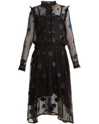 Queene And Belle - Alpina Embroidered-tulle Dress - Lyst