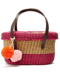 Sophie Anderson - Serenella Striped Wicker Basket Bag - Lyst