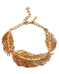 Oscar de la Renta - Palm Leaf Necklace - Lyst