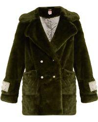 Shrimps - Gavin Embellished Faux-fur Coat - Lyst