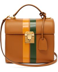 a9e70d13257b On sale Mark Cross - Sara Striped Leather Bag - Lyst