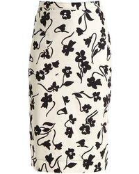 Altuzarra - Celandrine Floral-print Crepe Skirt - Lyst