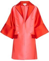 Antonio Berardi | Bi-colour Satin Evening Coat | Lyst