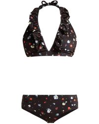 Ganni - Pineberry Floral Print Bikini - Lyst
