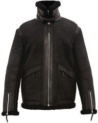 Bottega Veneta Shearling Aviator Jacket - Black