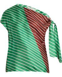 Tibi - Delphina Knot Detail Silk Top - Lyst