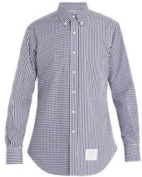 Thom Browne - Striped And Gingham Cotton Shirt - Lyst