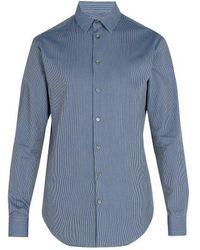 Giorgio Armani - Zig Zag Pattern Cotton Shirt - Lyst