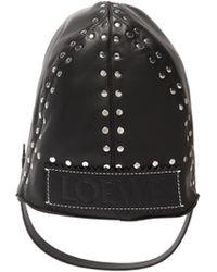 Loewe Studded Leather Driving Hat - Black