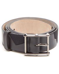 Valentino - Studded Buckle Leather Camo Belt - Lyst