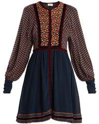 Talitha - Athena Ashanti Print Silk Dress - Lyst