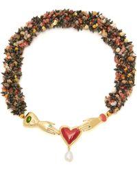 Heimat Atlantica - Solange Embellished Shell Necklace - Lyst