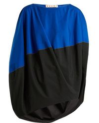 Marni - Boat-neck Slit-sleeved Asymmetric Top - Lyst