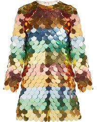 Sara Battaglia - Sequinned Mini Dress - Lyst