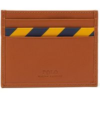 Polo Ralph Lauren - Striped Leather Cardholder - Lyst