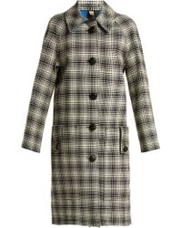 Burberry - Walkden Houndstooth A Line Wool Coat - Lyst