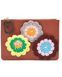 JW Anderson - Daisies-crochet Leather Pouch - Lyst
