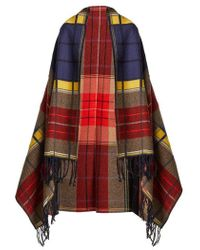 Sonia Rykiel - Tartan Virgin-wool Blanket Scarf - Lyst