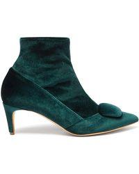 Rupert Sanderson - Glynn Velvet Ankle Boots - Lyst