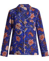 Diane von Furstenberg - Floral-print Silk Crepe De Chine Pyjama Shirt - Lyst