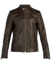 Belstaff - - Northcott Leather Biker Jacket - Mens - Dark Brown - Lyst
