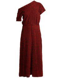 Rachel Comey | Pout One-shoulder Gingham Dress | Lyst