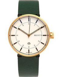 Bravur - Bw002 Stainless-steel And Leather Watch - Lyst