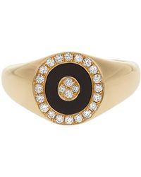 Anissa Kermiche - Diamond, Onyx & Yellow-gold Ring - Lyst