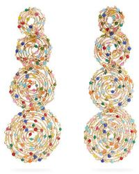 Rosantica By Michela Panero - Pizzo Bead-embellished Spiral Earrings - Lyst