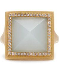 Monique Péan | Diamond, Jade & Yellow-gold Ring | Lyst