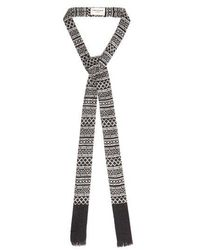 Saint Laurent - -print Wool-blend Crepe Tie - Lyst