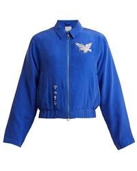 Maharishi - - Eagle Embroidered Silk Jacket - Womens - Blue - Lyst
